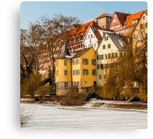Tübingen - Hölderlinturm by the River Neckar Canvas Print