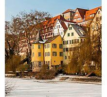 Tübingen - Hölderlinturm by the River Neckar Photographic Print
