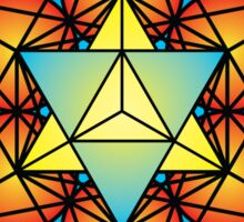 Metatron's Cube Merkaba Sticker