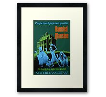 Haunted Mansion Ride Poster Framed Print