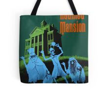 Haunted Mansion Ride Poster Tote Bag