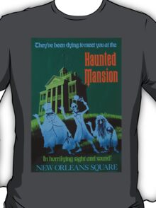 Haunted Mansion Ride Poster T-Shirt