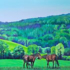 'Summer Grazing' Triptych (left) by HandsonHart