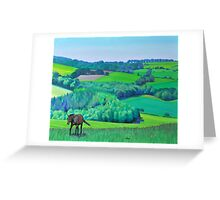 'Summer Grazing' Triptych (right) Greeting Card