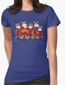 Group of cartoon tigers Womens Fitted T-Shirt
