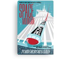 Space Mountain Ride Poster Metal Print