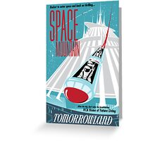Space Mountain Ride Poster Greeting Card