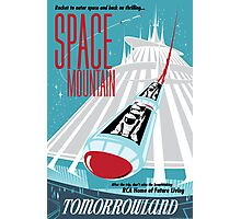 Space Mountain Ride Poster Photographic Print