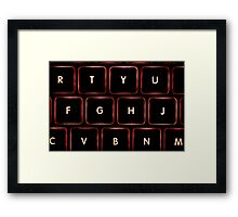 Keyboard Framed Print