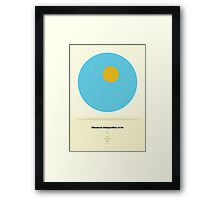 The Chemical Composition of Air  Framed Print