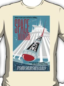Space Mountain Ride Poster T-Shirt