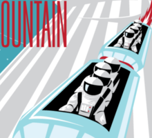 Space Mountain Ride Poster Sticker