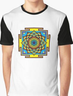 Flower of Life Psychedelic Mandala Graphic T-Shirt