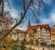 Tübingen - View from the Neckar Bridge 2 by Mark Bangert