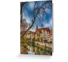 Tübingen - View from the Neckar Bridge 2 Greeting Card