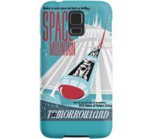 Space Mountain Ride Poster Samsung Galaxy Case/Skin
