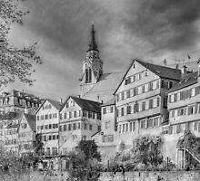 Tübingen - View from the Neckar Bridge 3 by Mark Bangert