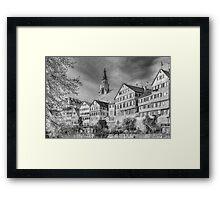 Tübingen - View from the Neckar Bridge 3 Framed Print
