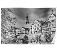 Tübingen - View from the Neckar Bridge 3 Poster