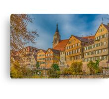 Tübingen - View from the Neckar Bridge 4 Canvas Print
