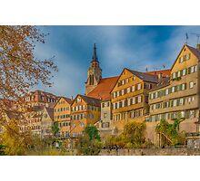 Tübingen - View from the Neckar Bridge 4 Photographic Print