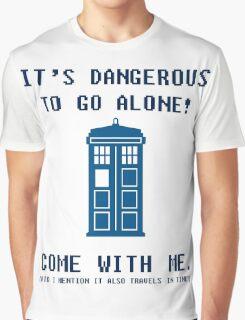 It's Dangerous To Go Alone Take Tardis Graphic T-Shirt