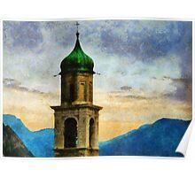 Chiesa di San Benedetto, Limone Sul Garda, Italy Poster
