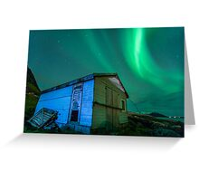 Room With a View - Northern Lights Greeting Card