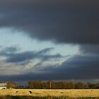 Storm Over The Farm by WildestArt