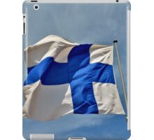 Flag of Finland on blue sky iPad Case/Skin