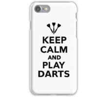 Keep calm and play Darts iPhone Case/Skin