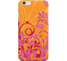 hot pink bright orange abstract girly floral iPhone Case/Skin