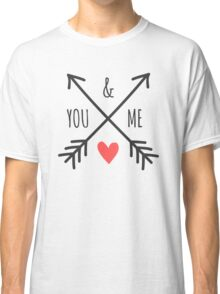 Cute Arrows and Heart Design You & Me  Classic T-Shirt