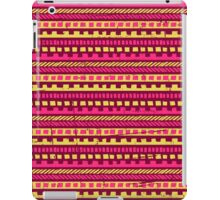 Vibrant Pink and Yellow Aztec Pattern  iPad Case/Skin