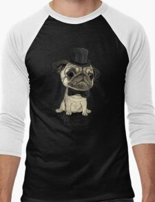 Pug; Gentle Pug (v3) Men's Baseball ¾ T-Shirt