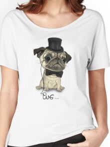 Pug; Gentle Pug (v3) Women's Relaxed Fit T-Shirt