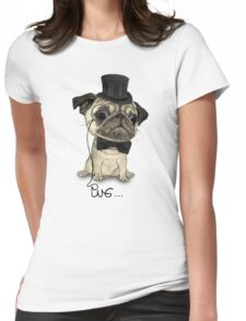 Pug; Gentle Pug (v3) Womens Fitted T-Shirt