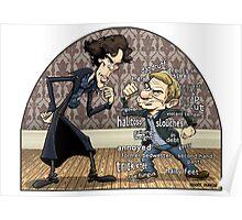 Sherlock analyzes Watson Poster