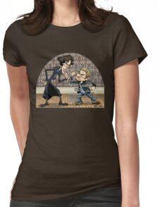 Sherlock analyzes Watson Womens Fitted T-Shirt