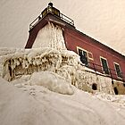 Grand Haven Lighthouse in Winter by Roger  Swieringa