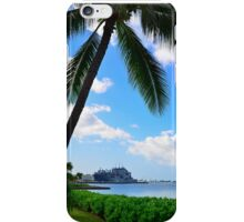 Coconut tree on the shore iPhone Case/Skin
