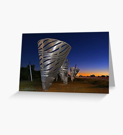 Water Dance Sculptures  Greeting Card