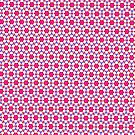 Pink kitsch flower pattern  by Vicki Field