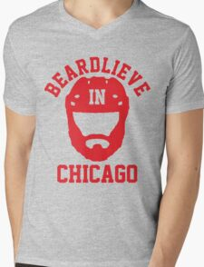 Beardlieve In Chicago Mens V-Neck T-Shirt