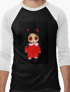 Sinderella the Cute Devilish Dark Gothic Doll  Men's Baseball ¾ T-Shirt