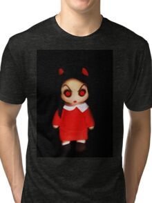 Sinderella the Cute Devilish Dark Gothic Doll  Tri-blend T-Shirt