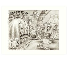 Monster Cheese Art Print
