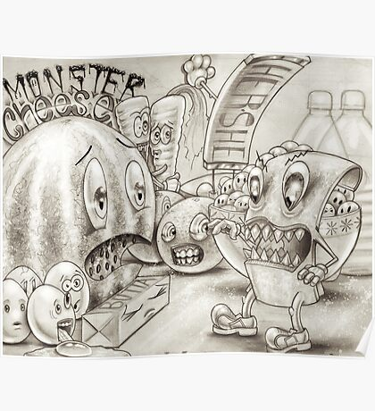 Monster Cheese Poster
