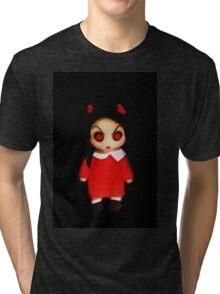 Sinderella the Cute Devilish Dark Gothic Doll  Tri-blend T-Shirt