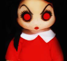 Sinderella the Cute Devilish Dark Gothic Doll  Sticker